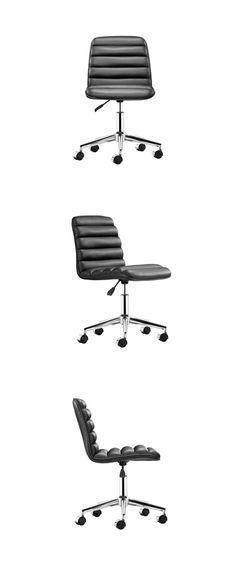 Esta silla para oficina es una excelente opción para decorar oficinas contemporáneas y estilizadas. Elaborada en acero cromado y polipiel de alta calidad, disponible en negro, blanco y rojo. Dimensiones: 47cm x 40cm y altura de 79cm ajustable a los 86cm.  www.bodegademuebles.com