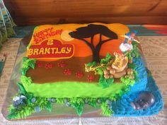 Lion Guard Cake by Angie Anderson Happy Birthday Brantley Lion Guard Birthday Cake, Lion King Birthday, 4th Birthday Cakes, Happy 2nd Birthday, 2nd Birthday Parties, Birthday Ideas, Birthday Crafts, Lion Cakes, Lion King Cakes