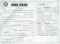 Formal Apology fill in the blank....would be perfect....yep.