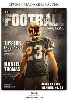 Football Sports Photography Magazine Cover Football And Basketball, Softball, Soccer, Sports Magazine Covers, Running Magazine, Basketball Practice, Field Hockey, Photography Magazine, Lacrosse