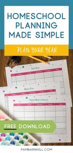 Get the essential FREE homeschool planner pages you need to make a big-picture plan that will work for your unique family! School Lessons, Lessons For Kids, Homeschool Kindergarten, Homeschooling Resources, Lesson Planner, School Fun, Middle School, Year Planning, Daily Routines