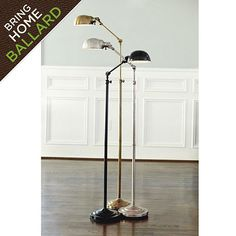"""Julian Apothecary Floor Lamp Up to 74""""H with Stand & Arm Straight Up & Dome to Side Stand From Floor to Pivot at Arm: 57""""-60 3/4""""H Adjustable Arm+Dome: 19""""L, 19 1/2""""L Dome: 7"""" Diameter Base: 10"""" Diameter"""