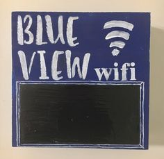 Personalized wifi sign w/ chalkboard for password. Custom lettering and color. Add your beach house name, business, family name, address. Lake House Signs, Custom Wooden Signs, Beach House Decor, Home Decor, Housewarming Party, Beach Vacation Rentals, Cool Things To Make, House Warming, Colorful Backgrounds