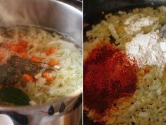 ciorba ardeleneasca de varza preparare 2 Grains, Soup, Rice, Recipes, Ham, Red Peppers, Recipies, Soups, Ripped Recipes