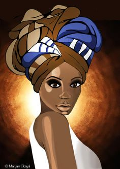 GELE by Maryam Elkayal GELE.( It's the African head wrap pronounced Gaye-lay.This is My First Attempt of Digital Painting ) Black Girl Art, Black Women Art, Female Face Drawing, Female Art, Beautiful African Women, Afrique Art, African Art Paintings, Natural Hair Art, African Head Wraps