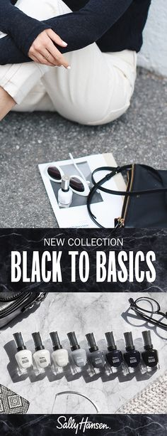NEW Black to Basics Collection | Complete Salon Manicure Keratin Complex, Nails Today, Strong Nails, Finger Painting, Salons, Manicure, Cleaning, Collection, Black