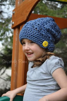 PATTERN Hillary Slouch Hat pdf by BySincerelyPam on Etsy, $5.00