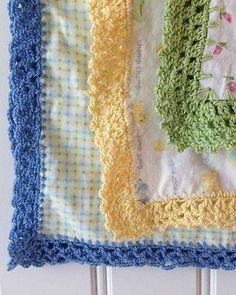Receiving Blanket Eyelet Edging Crochet Pattern