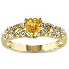 Miadora 10k Gold Sapphire Diamond Accent Ring