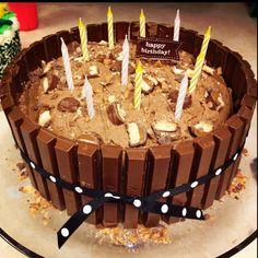 Birthday Kit-Kat cake.