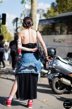 #MarianneTheodorsen‬ going backless in Paris. #StyleDevil