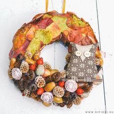 Őszi kopogtató textil bagollyal - Kopogtatók - Di Fiori