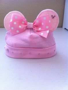 Girls Minnie Mouse Princess Vacation Hat Bling Baby by solcreator, $21.00