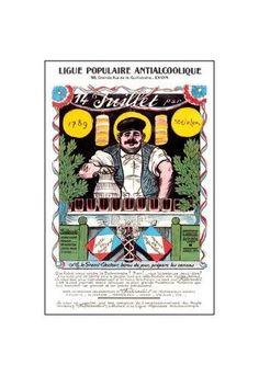 'Ligue Populaire Antialcoolique' Print (Canvas 20x30)