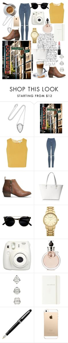 """Coffee Stop anyone?"" by gnmickey ❤ liked on Polyvore featuring Pamela Love, Topshop, Office, Kate Spade, Valentino, Fountain and MAC Cosmetics"