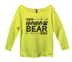 Mama Bear Womens 3/4 Long Sleeve Vintage Raw Edge Shirt Wonder Woman Quotes, Unique Tattoos For Women, Full Sleeve Tattoo Design, Women Sleeve, S Shirt, Winter Fashion Outfits, Cute Shirts, Workout Shirts, Fit Women