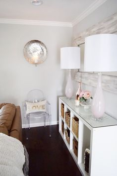 Easily refresh your home with a new accent color! These gorgeous, pale pink lamps will set the perfect mood for the New Year! HomeGoods Sponsored Pin.