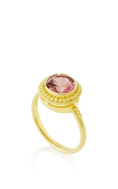 Hellenistic Gold 750° Ring with Pink Tourmalines - Ilias Lalaounis Resort 2016 - Preorder now on Moda Operandi