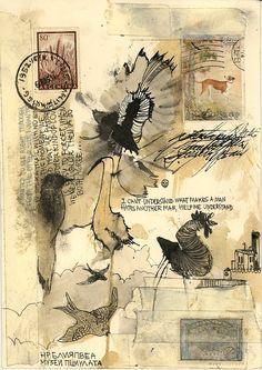 """Saatchi Online Artist: Thyer Machado; Paper, Assemblage / Collage """"Untitled"""""""