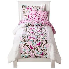 Room 365™ Birds in Trees Comforter Set       I'd sub teal sheets for the flowery pink though.