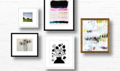 Two Bouquets and a Splash of Color on Artfully Walls