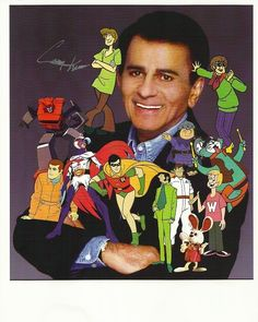 Casey Kasem - funny how his characters all kind of have the same facial structure...