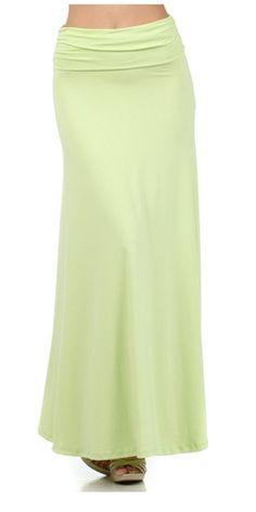 Lime Maxi Skirt - $22.00