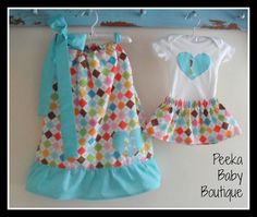 Matching/Coordinating Sister Outfits In Colorful Argyle with Initial Appliques on Etsy, $39.00