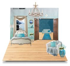 Seaside by ashleybieber on Polyvore featuring polyvore, interior, interiors, interior design, home, home decor, interior decorating, Inspire Q, Suki Cheema, Dot & Bo, Chandra Rugs, JCPenney Home, Queen Street, Liz Claiborne, Polaroid and seasideresort