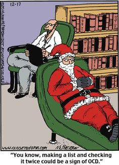 Today's funniest #funny (with a Christmas theme)   #psychology #MerryChristmas   Close to Home Comic Strip on GoComics.com