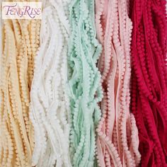 10m Beautiful Lace Ribbon 45mm Wide Multicolor Lace Trim Fabric Embroidered Net Lace Trimmings For Sewing Accessories Decoration Profit Small Lace
