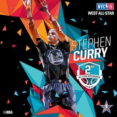 Stephen Curry / Western All-Stars Starters / 2015 NBA All-Star Game in NYC