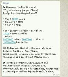 Meaning and Mathematics behind Sanskrit hymn Hanuman Chalisa.