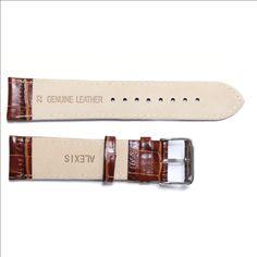 22 mm Všetky z pravej kože Unisex Brown hodinky kapela popruhy WB1036A22GB