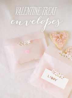 Valentine Treat Envelopes...filled with sweetness.    http://www.stylemepretty.com/2013/02/03/smp-at-home-diy-valentine-treat-envelopes/    Photo by Heidi at http://www.whiteloftstudio.com