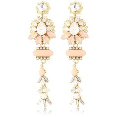 Halo & Co Women Mother Earth Earrings (€410) ❤ liked on Polyvore featuring jewelry, earrings, accessories, brinco, nude, swarovski crystal earrings, nude jewelry, swarovski crystal jewelry and earrings jewelry