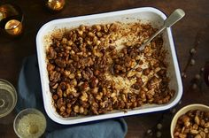Jamie Oliver's Festive Honey Roasted Nuts  Makes 1kg (2 large jars, 4 medium jars or 6 mini ones) 50g of unsalted butter 2 tbsp of runny honey 2 tsps of sweet smoked paprika 1kg mixed unsalted nuts (cashews, pecans, peanuts, macadamia almonds, hazelnuts, walnuts and Brazil nuts) 2 tsps quality sea salt  Read more at http://www.jamieoliver.com/news-and-features/features/festive-honey-roasted-nuts/#JpyihDuHxA7YqgMU.99
