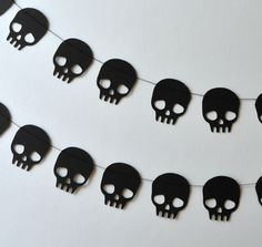 Halloween Garland/ Black Skull Garland by ScoutAndAcadia on Etsy, $ 12.00 #Halloween