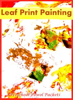 Fantastic process art that looks great when it's done!!  Leaf Print Paintings from Preschool Powol Packets
