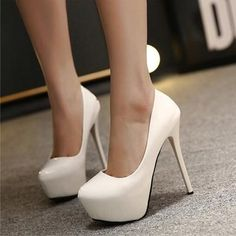 Women s Pumps Sexy Ultra High Heels Shoes Woman 14cm Hollow Out Platform Shoes  Thin Heels Patent Leather Pumps Wedding Shoes 2050fa0cae3e