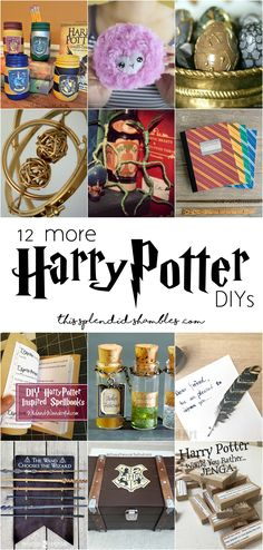geek diy 12 more harry potter diys for harry potter week crafts tutorials for every HP geek Diy Crafts For Teens, Diy Crafts Videos, Craft Tutorials, Crafts To Sell, Harry Potter Room, Harry Potter Gifts, Harry Potter Birthday, Diy Presents, Diy Gifts
