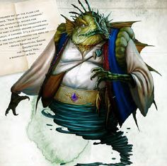 """rainbow-d20: """" I like the Marid's redesign, it used to be a scantily clad blue lady. Found in the 5e Monster Manual. """""""