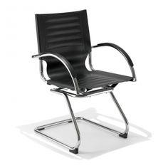 € 59,50 #sconto 50% #sedia #poltroncina moderna da #ufficio modello 3031 in acciaio cromato e finta pelle di colore #nero. In #offerta prezzo su #chairsoutlet factory #store #arredamento. Comprala adesso su www.chairsoutlet.com