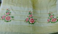 Rose paint on saree