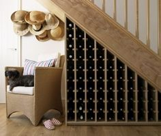 Understairs #WineStorage. Hmmm....this gives me an idea!