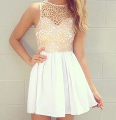 Dress with sweetheart neckline and lace. So cute <3