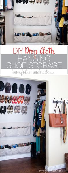 What a great way to organize shoes in a small space.