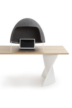 TOMOKO at your desk for more acoustic privacy :)