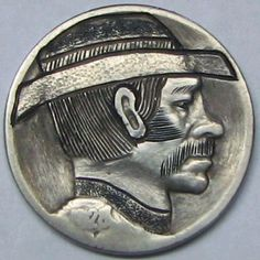 1928 US Buffalo Hobo Nickel Coin Pinkerton Detective Dan Hobo Nickel, Detective Agency, Buffalo, Dan, Coins, Rings For Men, Sick, Cactus, Profile
