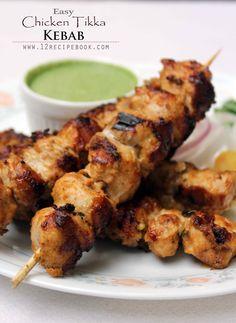 Chicken tikka is Indian originated grilled chicken. Here is an easy version of chicken tikka with simple Indian spices. Tandoori Chicken Tikka Recipe, Chicken Tikka Kebab, Tandoori Recipes, Kebab Recipes, Veg Recipes, Chicken Starter Recipes, Indian Chicken Recipes, Easy Chicken Recipes, Chicken